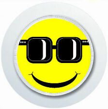 COOL SMILEY FACE WITH SUNGLASSES CAR TAX DISC HOLDER REUSABLE