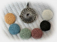 Spiral Essential Oil Aromatherapy Diffuser Necklace with 6 lava stones!