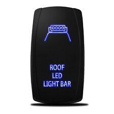 Car Roof LED Light Bar Laser Rocker Switch Backlit Blue 5-Pin On-Off Offroad SUV