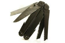 "Leatherman Wave Multi-Tool, ""Black Ninja Edition"", Black Oxide w/ Damascus Blade"