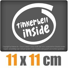 Tinkerbell inside 11 x 11 cm JDM Decal Sticker Aufkleber Racing Die Cut