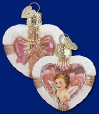 *Inside Art - Cupid's Heart* Angel Love Old World Christmas Glass Ornament- NEW