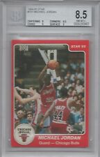 MICHAEL JORDAN BGS 8.5 1984-85 STAR #101 ROOKIE CARD WITH TWO 9 SUBS