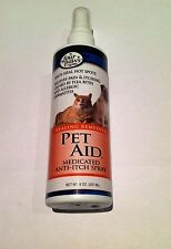 Pet Aid Anti Itch Spray 8oz for itchy dog cat skin problems cortavance fuciderm