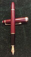 Vintage Montblanc Meisterstuck Fountain Pen Burgandy, 14K Gold Nib 4810 W. Germ