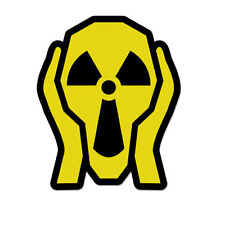"Nuclear Scream Danger Hazard Cool Modern  Vinyl Car Sticker Decal 5"" x 3"""