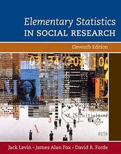 Elementary Statistics in Social Research (11th Edition), Forde, David R., Fox, J
