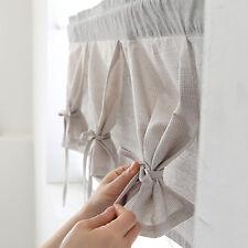Monotone Cotton Kitchen Valance Curtain  Window Curtain Valance Fabric