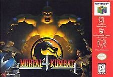 MORTAL KOMBAT IV 4 FOUR with cosmetic flaws GAME SYSTEM NINTENDO N64 N 64 NES HQ