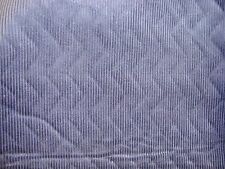 "ONE YARD CORDUROY Foam Backed w/ QUILTED LINING FABRIC NAVY BLUE 60"" x 36"" BTY"