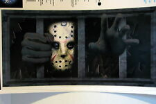Halloween Decoration Friday The 13th Jason Voorhees Grate Wall Grabber Sticker