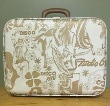 UNIQUE Vintage HTF RARE 70'S DISCO THEME OVER NIGHT HARD SIDE SUITCASE LUGGAGE