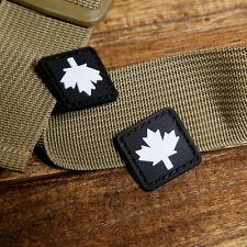 2 Pcs MINI BLACK CANADIAN MAPLE LEAF 3D  PVC Tactical ARMY MORALE  PATCH