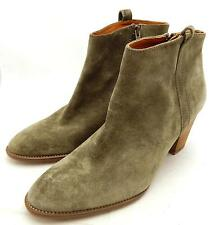 new Madewell $218 The Billie Boot 6.5 deep marsh brown boots shoes suede ankle