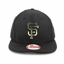 SF GIANTS New Era 9FIFTY Original Fit GOLD METAL Logo Snapback Hat Cap - BNWT