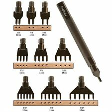 Craftool 10 Piece Diamond Hole Chisel Set Tandy Leather 3009-00
