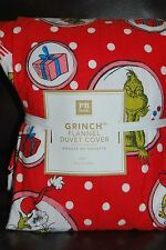 NWT Pottery Barn Teen Christmas Grinch Duvet Cover Twin