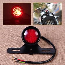 Motorcycle LED Red Rear Tail Brake Stop Light Lamp Cafe Racer Chopper Bobber #3
