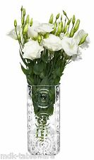 Glass Triangular Swirls Art Deco Style Flower Vase 25cm high Unique Handmade