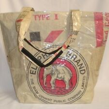Elephant Brand Recycled Pocket Tote Bag Handmade in Cambodia!!