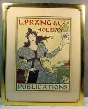ORIGINAL VINTAGE 1895 LOUIS PRANG HOLIDAY ADVERTISING LITHOGRAPH POSTER SIGN