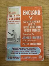 circa 1950 Cricket: England v South Africa, India, New Zealand & West Indies, Co