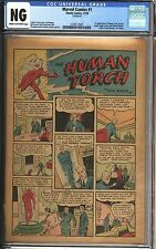 Marvel Comics #1 CGC NG Coverless Original 1939 1st App of Human Torch, Ka-Zar