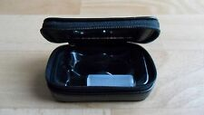 CONTACT LENSES TRAVEL CASE  - ZIPPED BLACK CASE WITH MIRROR & BOTTLE