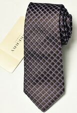 NEW Burberry Brown Classic Mans Silk Tie 100% Authentic Italy Made 027509