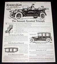 "1914 OLD MAGAZINE PRINT AD, KISSELKAR, 36 ""FOUR"" TWO-DOOR TOURING CAR, TRIUMPH!"