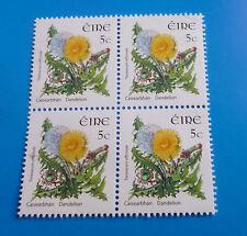 Ireland Definitive Postage Stamps 2x2 block 5 cent Dandelion Taraxacum Eire MNH