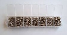 New! Assorted 1500 pcs Mixed Silver Tone Open Jump Rings Size 3 4 5 6 7 8 mm box