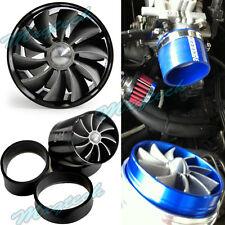 Turbo Turbine Double Lame Pour Kit Fan Admission air Filtre F1-Z Universel Noir