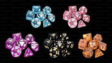 5 NEW Sets Specialty Polyhedral Dice - 5 Sets Speckled Dice - RPG D&D
