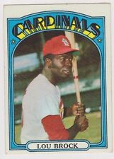 1972 Topps #200 Lou Brock - St. Louis Cardinals, Near Mint Condition!