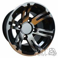 10x7 Machined / Black Golf Cart wheel Set of (4)