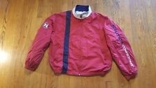 Nautica Competition Red White Blue Full Zip Windbreaker XL SPELL OUT VTG 90s