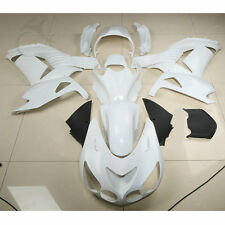 Unpainted White ABS Fairing Bodywork Kit For ZZR1400 ZX14R ZX-14R 06-11 07 08 09
