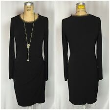 Simply Vera Wang Black Matte Jersey Faux Wrap Dress. Small