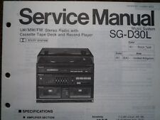 PANASONIC SG-D30L Stereo Music Centre unit Service manual wiring parts diagram