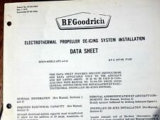 BFGoodrich ElectroThermal De-Ice Install Data Sheets for Beechcraft 56TC and 60