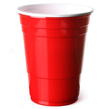 100 x Beer Pong Red Party Cups (Frat Party Cups - 16oz) -  [5055202126121]