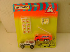 1993 MATCHBOX EUROPEAN EMERGENCY SET AIRPORT FIRE SERVICE RESCUE POLICE UNIT MOC
