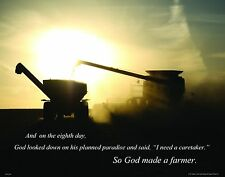 So God Made a Farmer Motivational Inspirational  Poster Art Print 11x14  RELG28