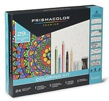 Prismacolor Premier Pencils Adult Coloring Kit with Blender, Art Marker, Eras...