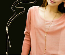 New Fashion Gold Plated Long Sweater Snake Chain Necklace Women Gift Jewellery