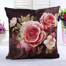 Hot Printing Dyeing Peony Sofa Bed Home Decor Pillow Case Cushion Cover Coffee