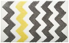 NEW InterDesign Microfiber Bath Rug 34 Inch by 21 Gray Yellow FREE SHIPPING