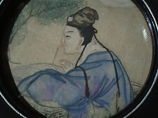 Vintage CHINESE WATERCOLOUR Depicting a CONFUCIAN SCHOLAR, Original Art Painting