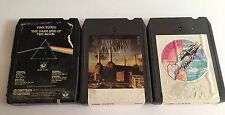 Pink Floyd 8-track Tape Lot Of 3 Assorted Used